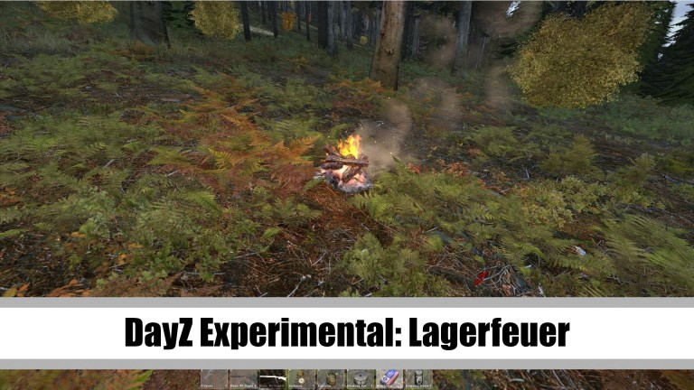 DayZ – Lagerfeuer in Version 0.45 Experimental
