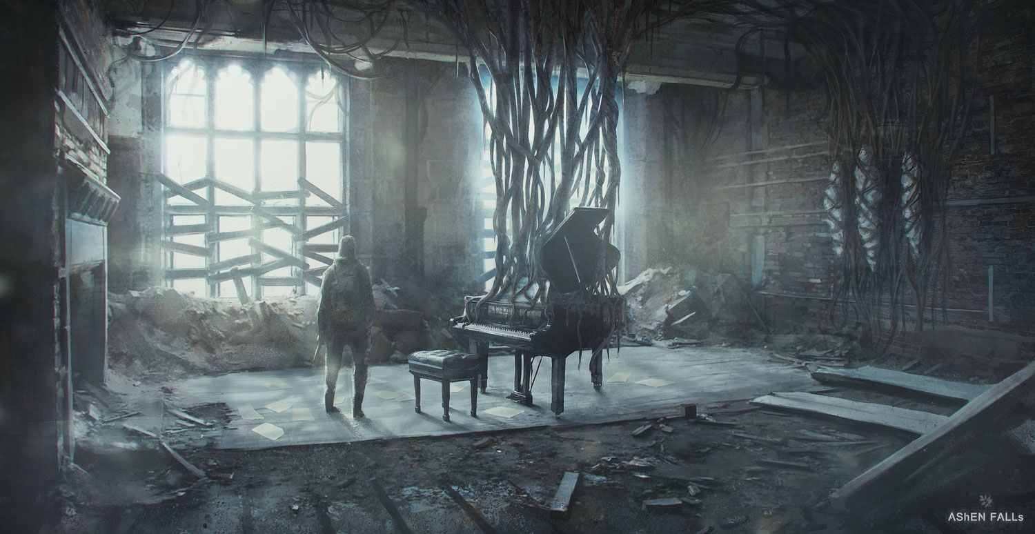 AShEN FALLs Artwork - Piano