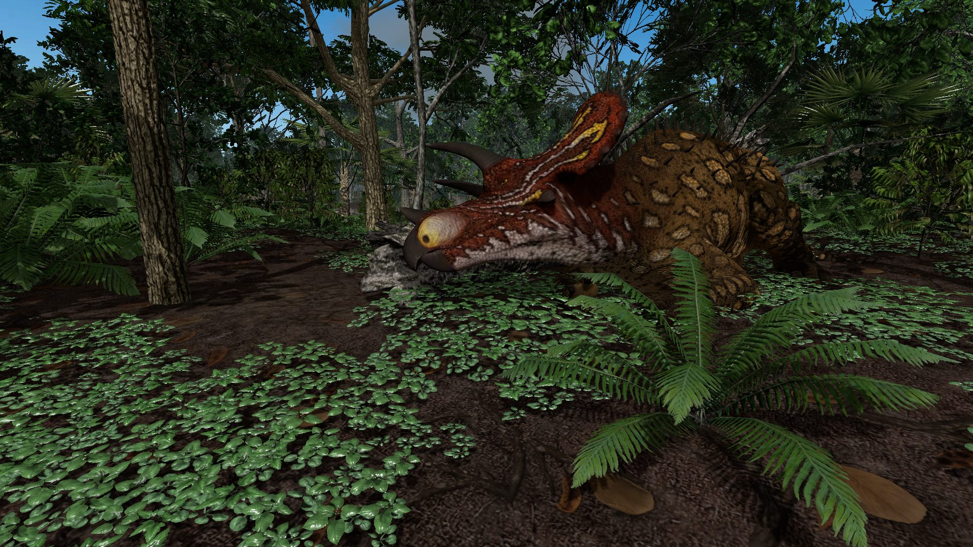Triceratops im Wald in Saurian