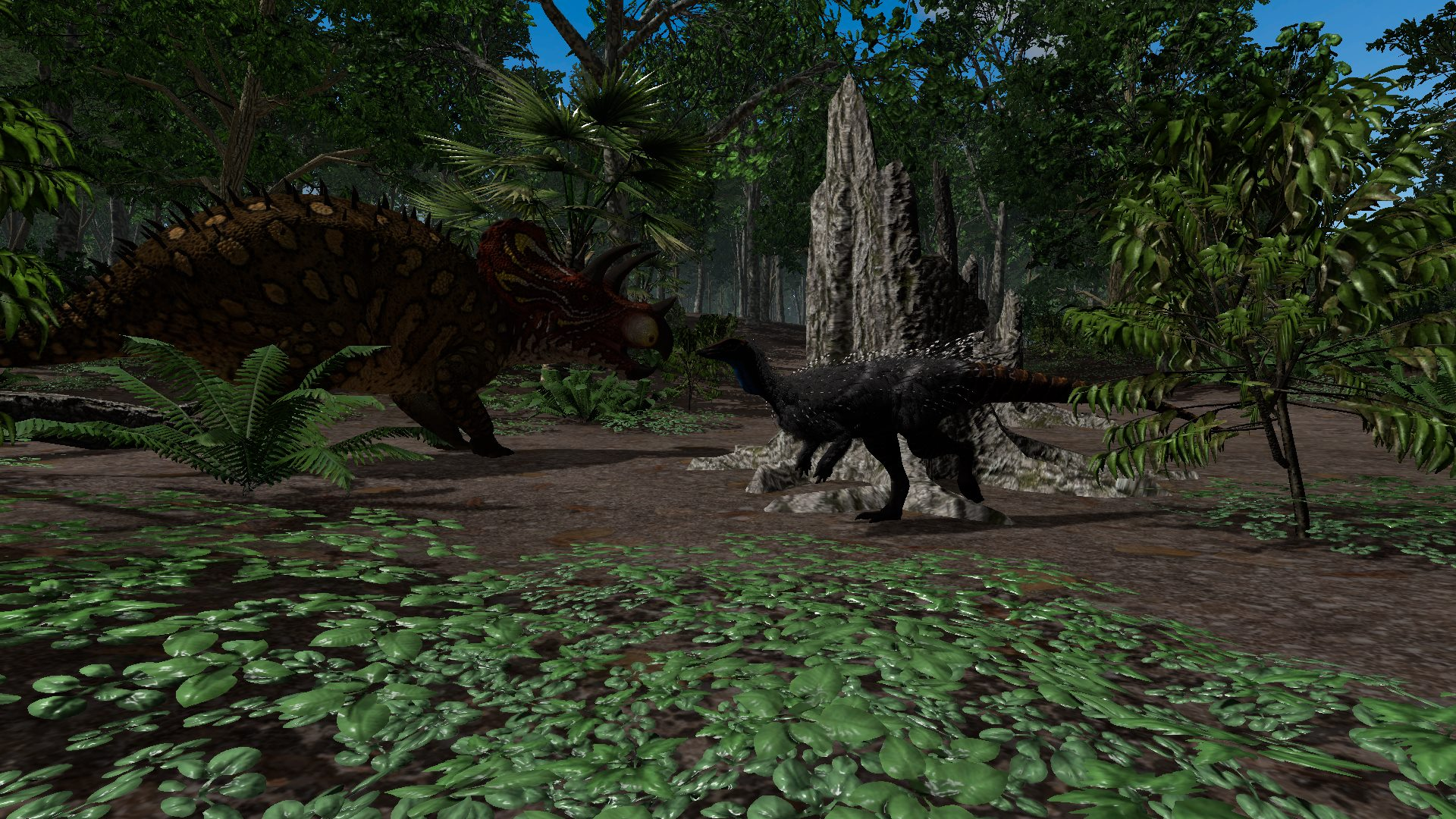 Triceratops in Saurian