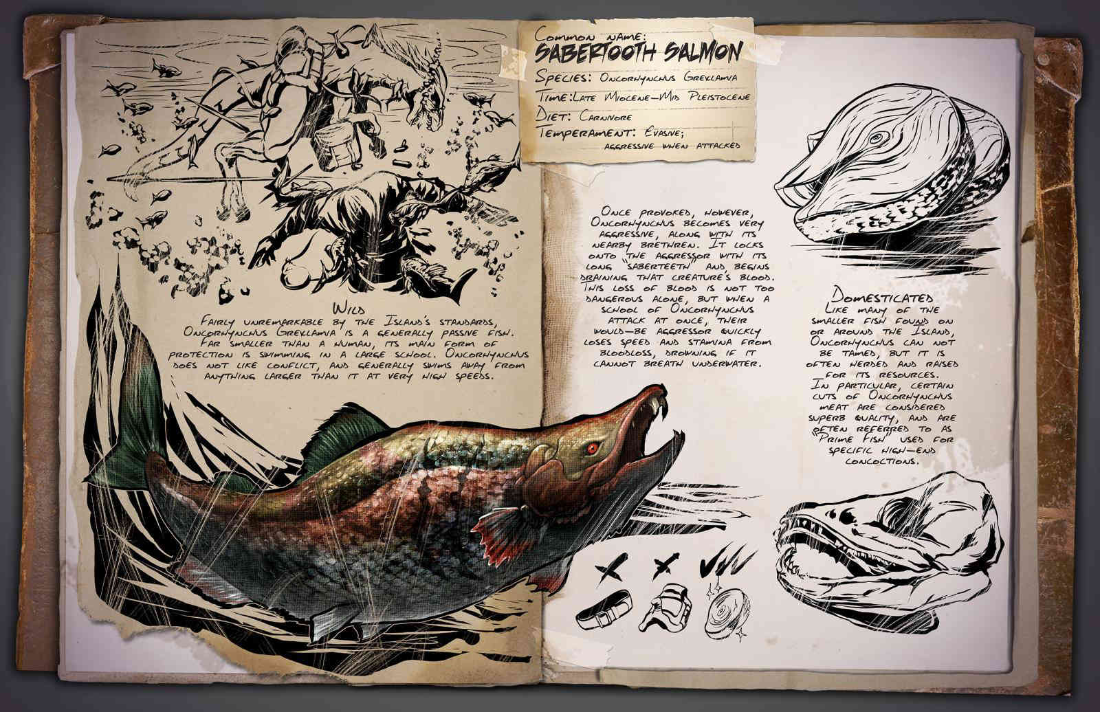 ARK Dossier Sabertooth Salmon