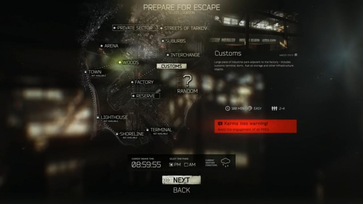 Escape from Tarkov Map