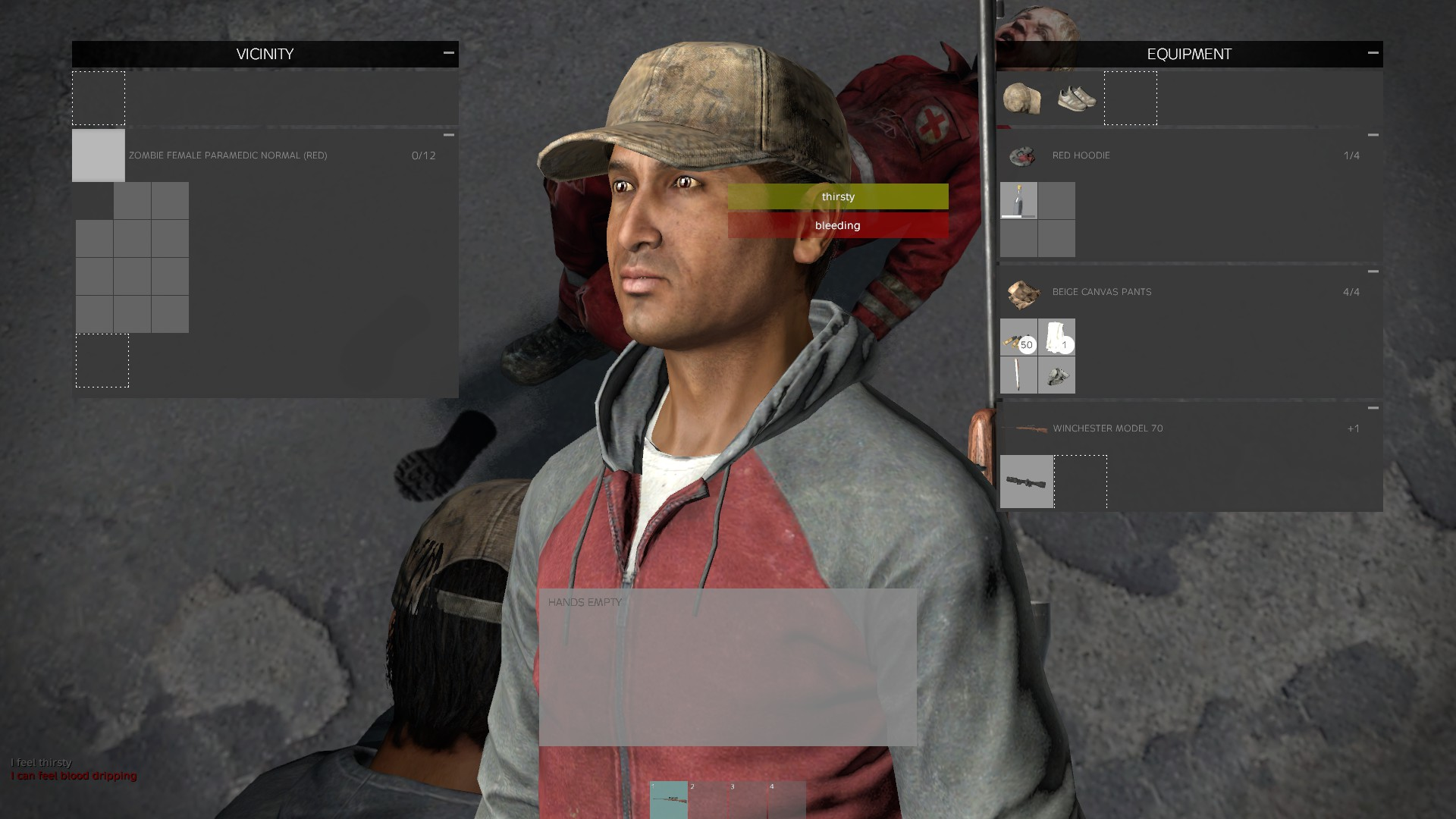 DayZ 0.60 User Interface