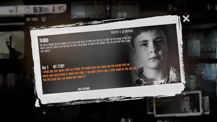 This War of Mine - The little ones - Diary