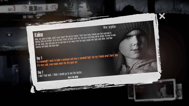 This War of Mine - The little ones - Diary2
