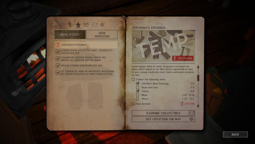 The Long Dark Story Journal