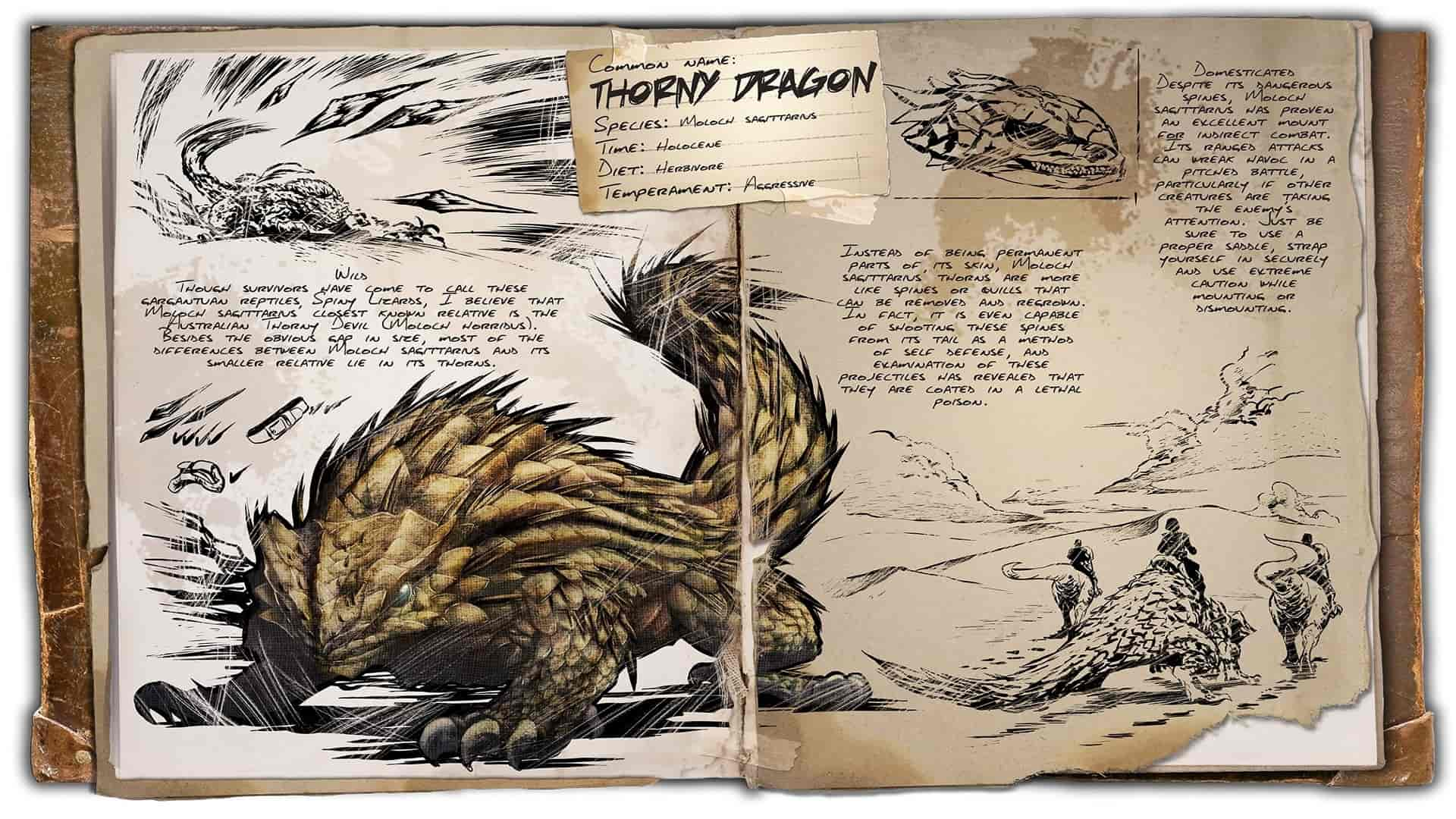 Ark Scorched Earth Dino Dossier Thorny Dragon