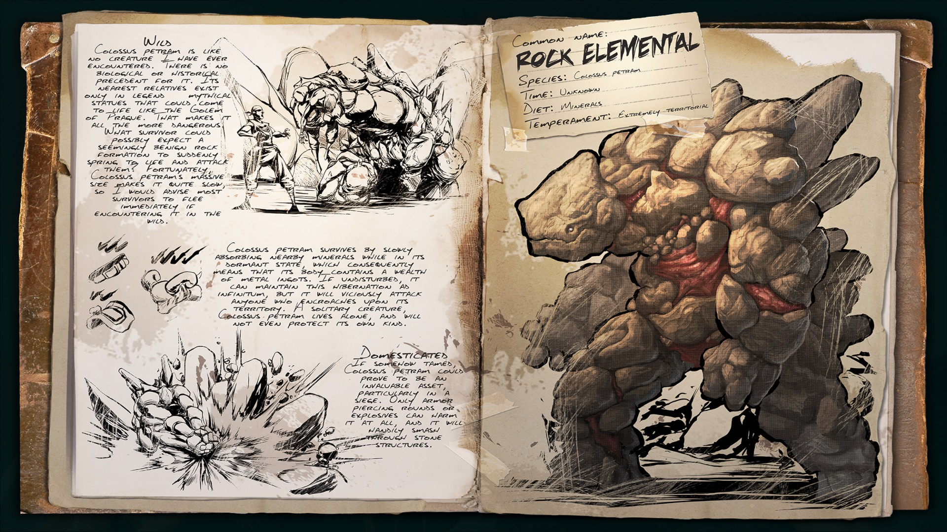 Ark Scorched Earth Dino Dossier Rock Elemental