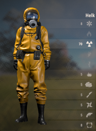 Rust 135 Hazmat Suit