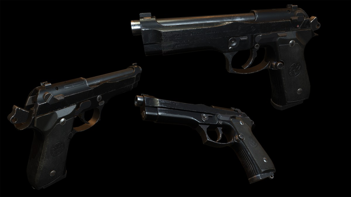 Beretta-Pistole in Rust
