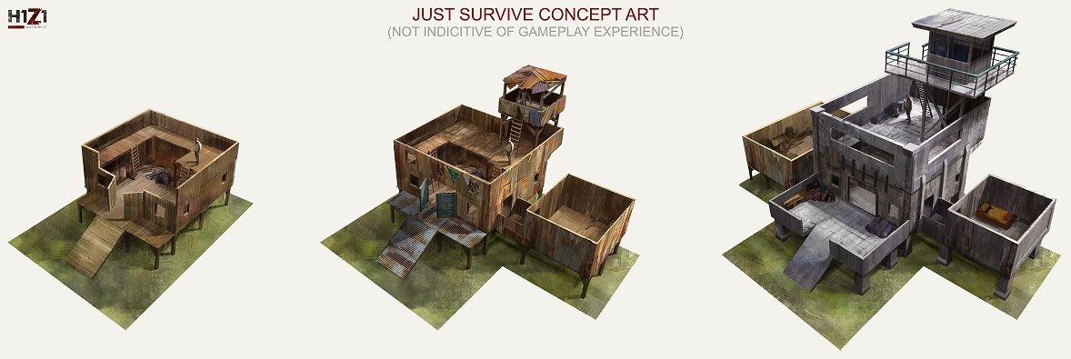 H1Z1: Just Survive Basebuilding Concept 2017