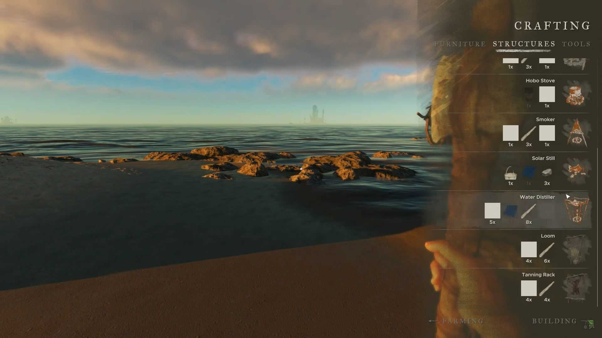 how to open crafting menu in stranded deep