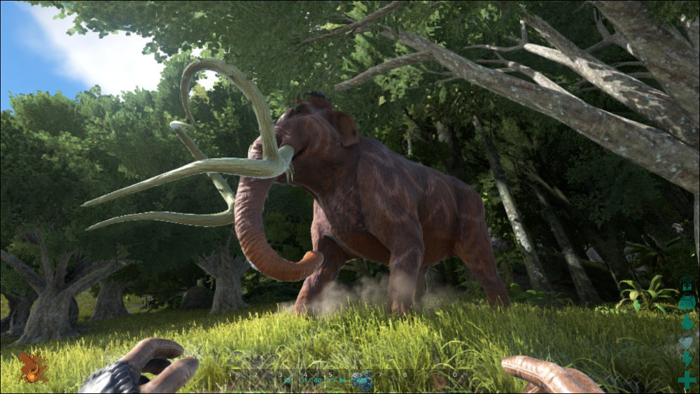 Freilebendes Mammut in ARK: Survival Evolved