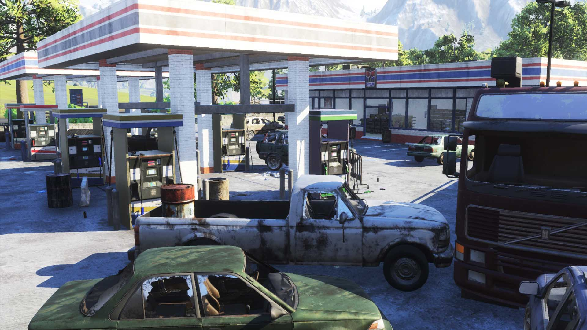 Gas station in H1Z1: King of the Kill
