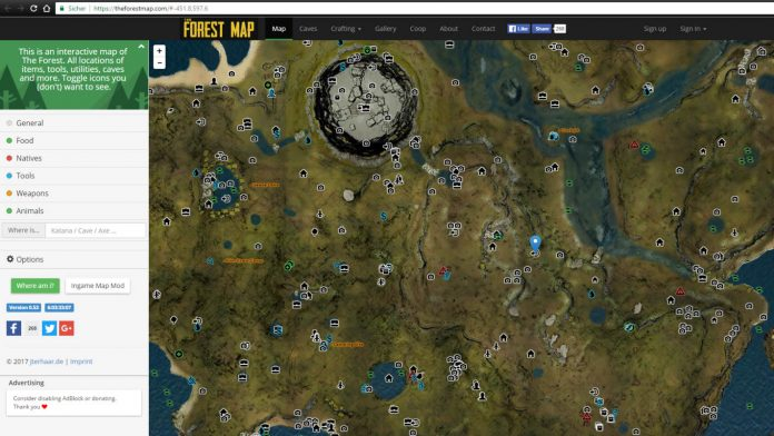 the forest map karte loot katana