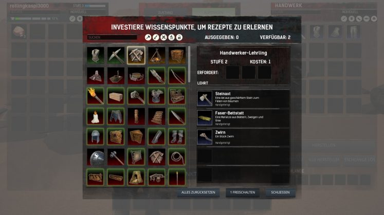 Conan Exiles recipes.
