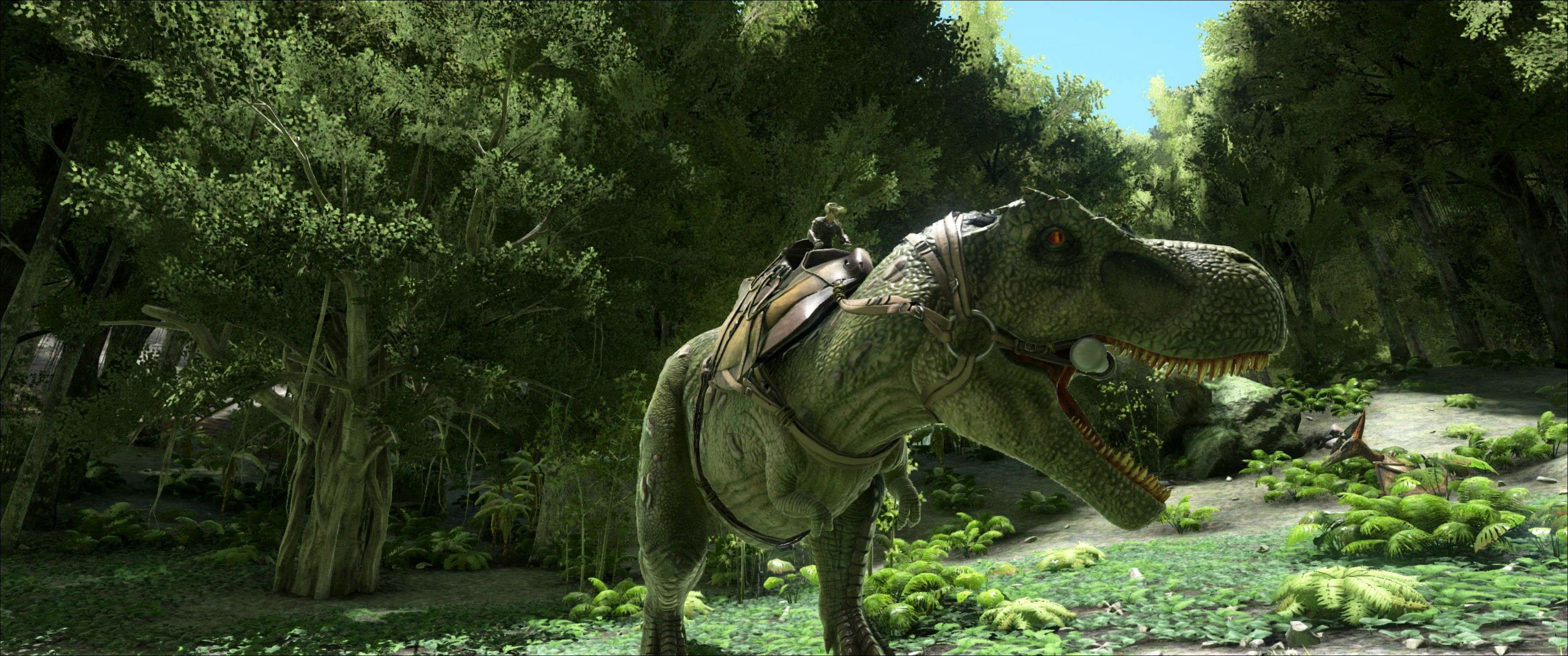 T-Rex with a saddle.