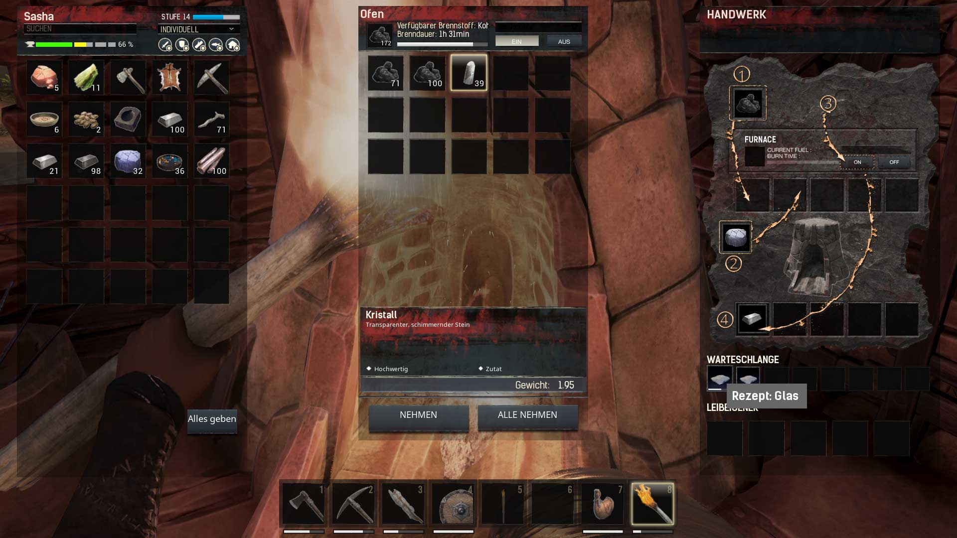 how to get glass conan exiles