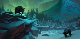 Wolves under the Northern Lights.
