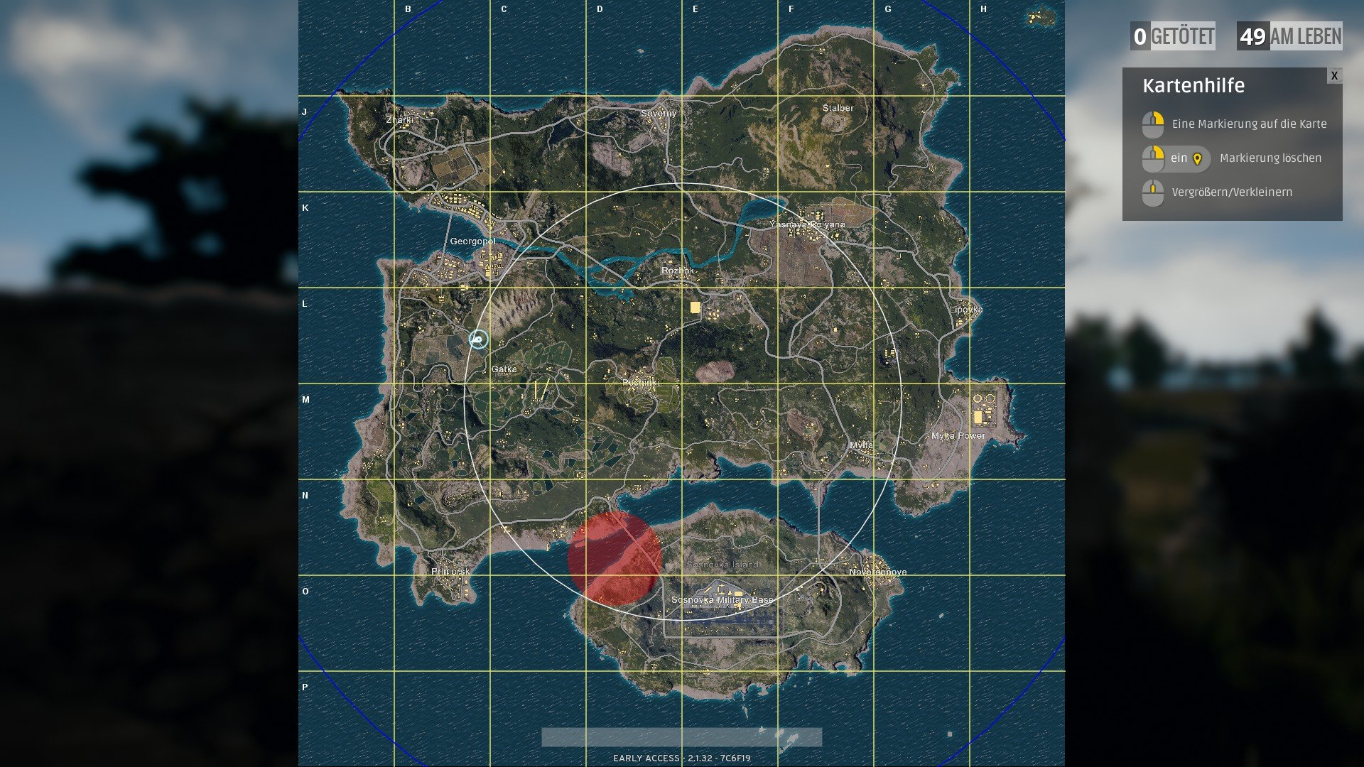 PU PlayerUnknown's Battlegrounds map karte zonen