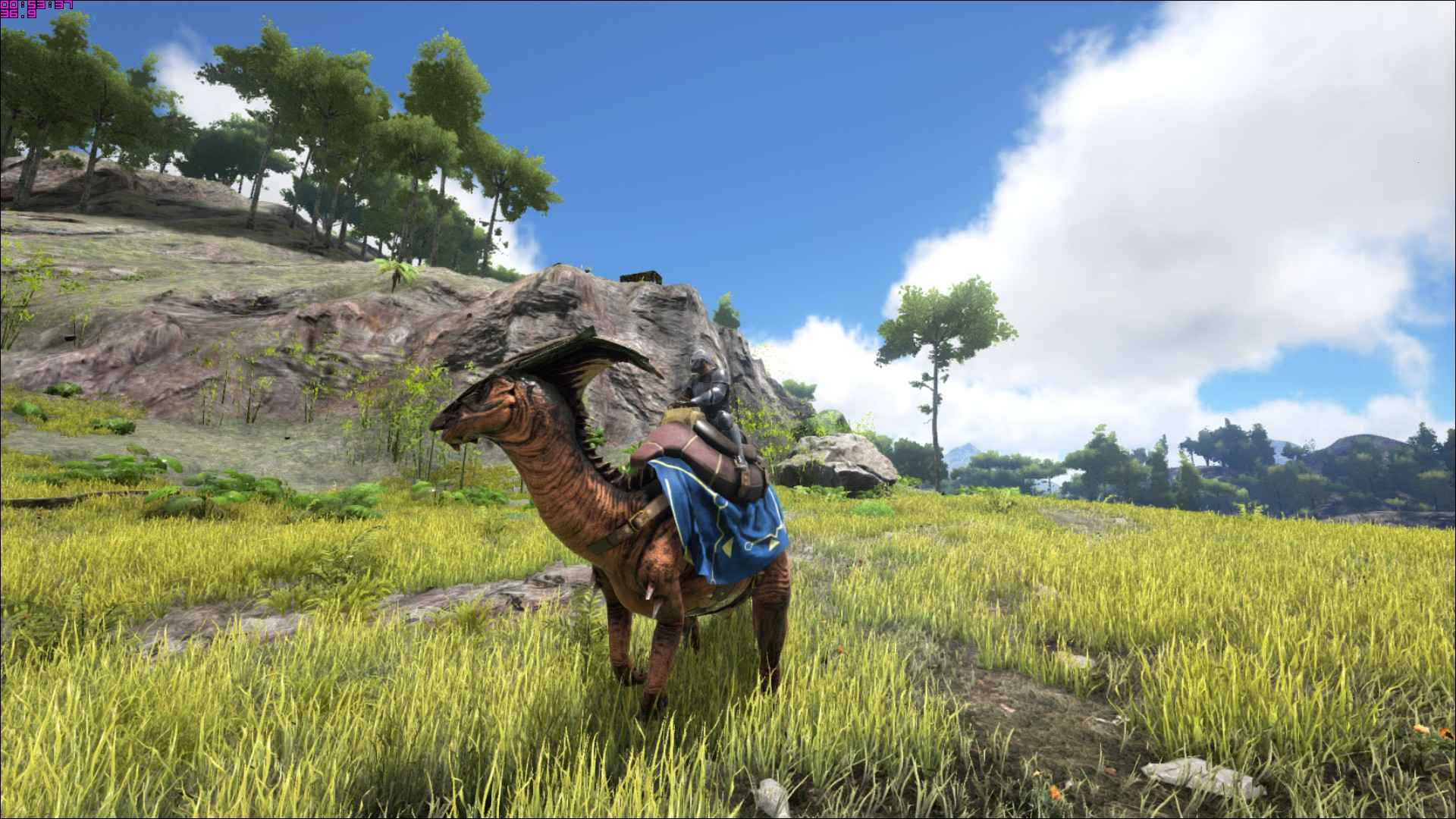 Tamed Parasaur with a rider.
