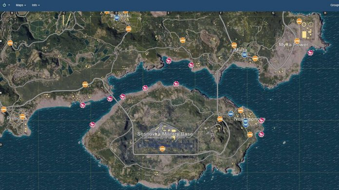 PlayerUnknown's Battlegrounds PUBG Map Karte iZurvive