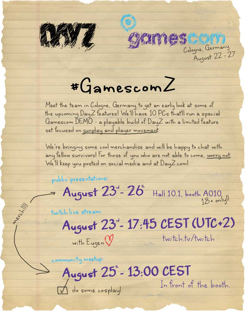 gamescom-Plan DayZ