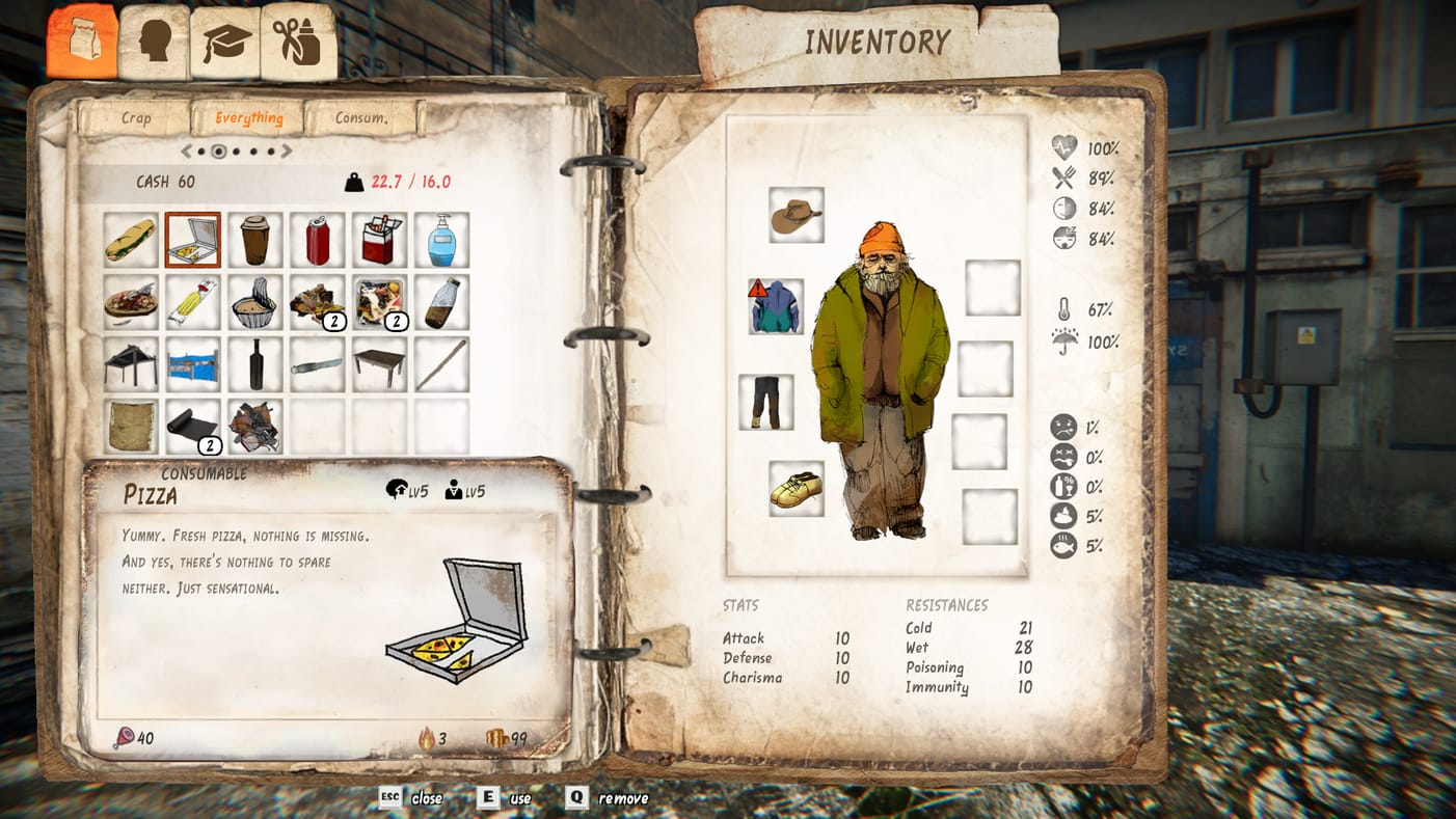 Hobo Tough Life Inventory Gamescom 2017