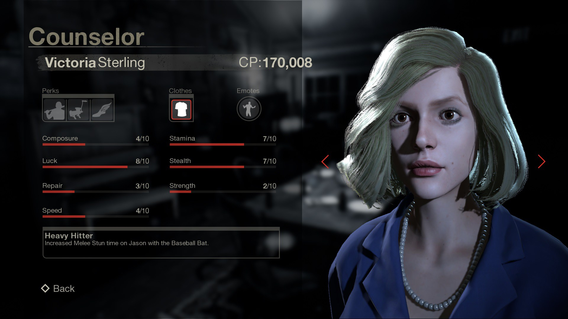 Counselor Victoria Stats
