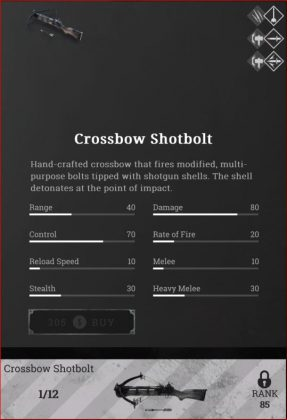 crossbow shotbolt