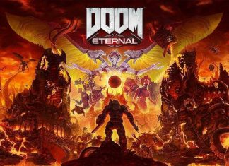 doom eternal titelbild logo slayer artwork