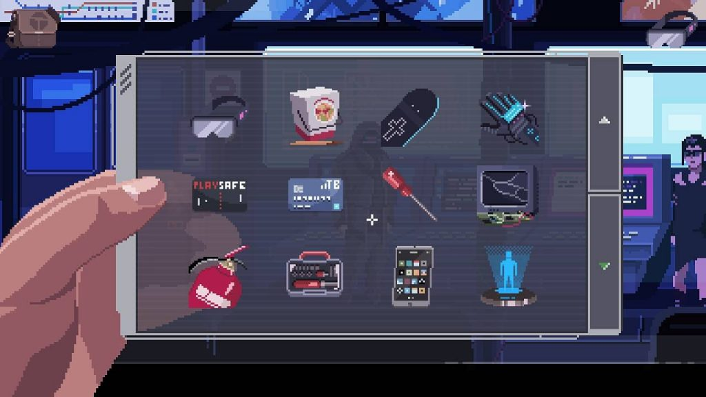 virtuaverse pixelart point and click adventure inventory