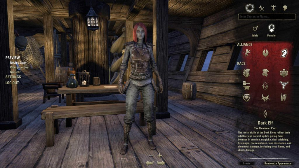 eso character creation