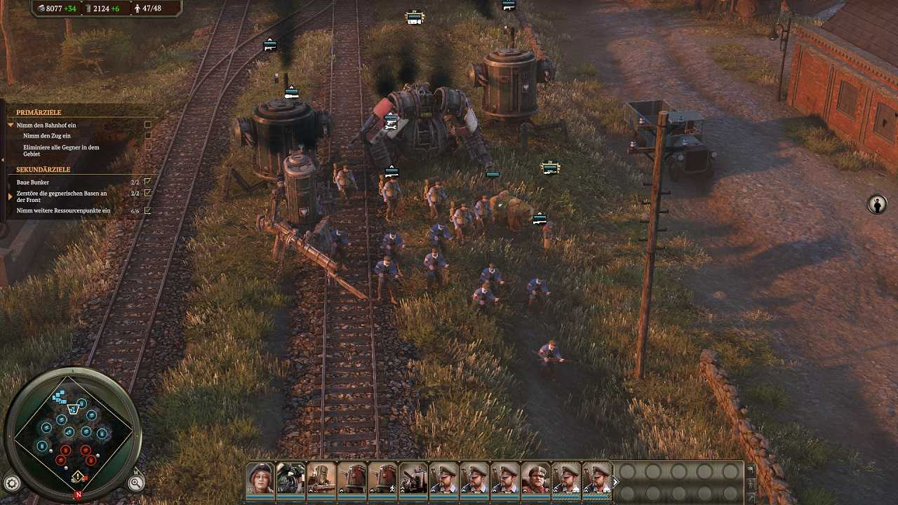 iron harvest 1920+ ingame army mechs soldiers attack