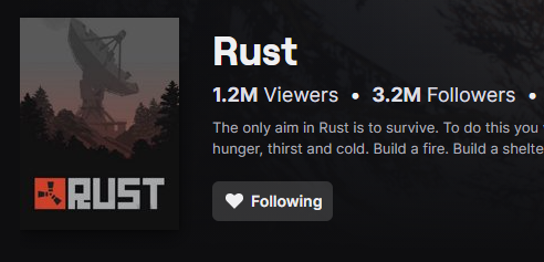 Rust Twitch Count